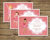 Ballet/Ballerina Party Birthday Invitation - printable digital file -
