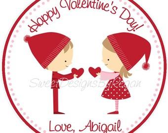 Valentine's Day Favor Tag ( Set of 12 ) / Valentines day favors / Valentine Favor Tag / Valentine Favor Tags for Kids / Valentine Goody