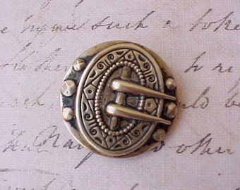 Beautiful Victorian Renaissance Style Button with Buckle Motif