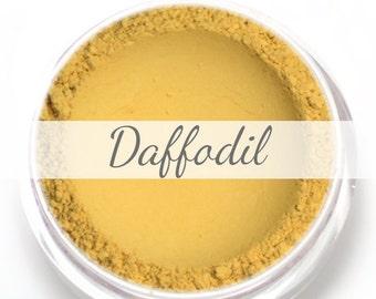 "Eyeshadow Sample - ""Daffodil"" - Matte Yellow Vegan Mineral Eyeshadow Net Wt .4g Mineral Makeup Eye Color Pigment"