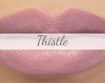 "Vegan Lipstick Sample - ""Thistle"" (light mauve lipstick, pink purple) natural lip tint, balm, lip colour, mineral lipstick"