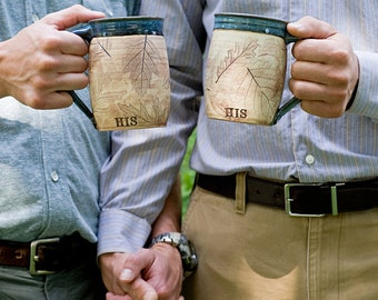 His and His Mugs - Hers and Hers Mugs - Gay Couple - Wedding Mugs
