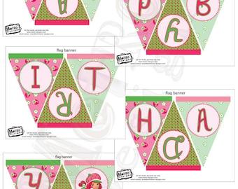 Strawberry Shortcake Birthday Banner