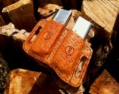 Personalized Dual Pistol Magazine Carrier/ Holster, Leather, Large Frame Semi Automatic Pistol,