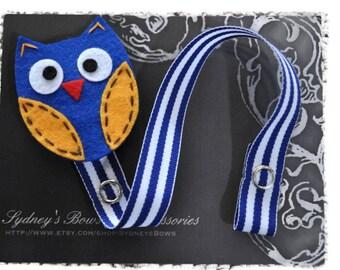 Pacifier Clip, Blue Owl Pacifier Clip, Pacifier Holder