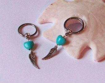 Boob piercing etsy for Angel wings nipple piercing jewelry