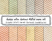 digital paper shabby tribal aztec chevrons vintage pastel colors, grunge texture, digital photography backgrounds, instant download 552