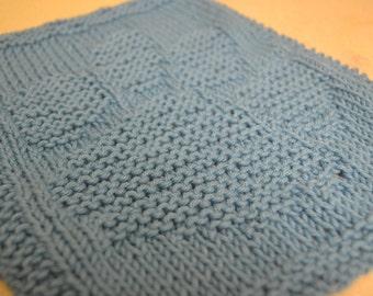 Paw Hand-Knit Dishcloth
