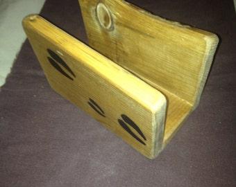 Rustic home decor/ rustic wedding/ rustic napkin holder/ napkin holder/ cabin decor