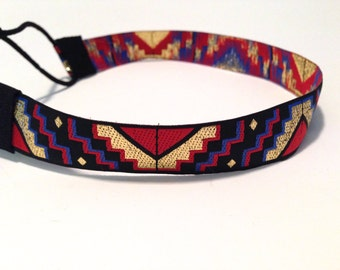 SALE // Navy, Red, and Gold Tribal Headband