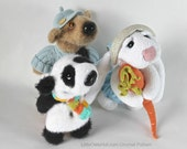 056 3 friends: Bear, Rabbit, Panda - Amigurumi Crochet Pattern PDF file by Astashova Etsy