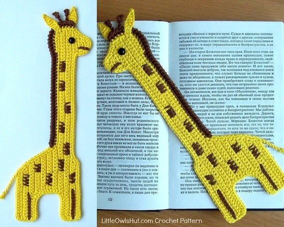 045 Crochet Pattern Giraffe Bookmark or decor - baby Amigurumi - PDF file by Zabelina Etsy
