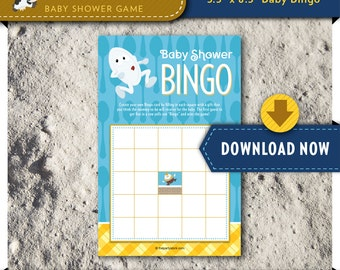 Nursery Rhyme Baby Shower Game, Printable Bingo Card, Part of our Over the Moon Theme, decorations and invitation available INSTANT DOWNLOAD