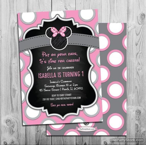 Minnie mouse birthday invitations printable chalkboard style girls il570xn filmwisefo
