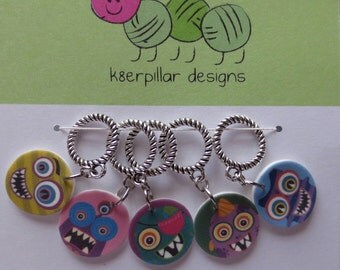 Snagless Stitch Markers - Monster Mash Series 1