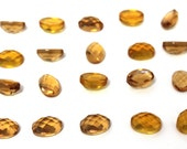 GCF-1334 - Citrine Faceted Cabochon - Oval 10x14mm - November Birthstone - AA Quality - 1 Pc