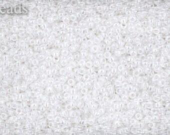 15/0 TOHO seed beads 10g Toho beads 15/0 seed beads Ceylon Snowflake 15-141 Opaque white White seed beads