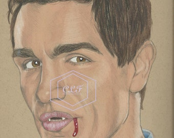 Aidan Waite Sam Witwer Being Human Drawing