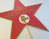 Hollywood Star on a stick, Wedding photo props, photo booth props