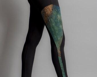 Hand dyed incrustation legging S, M, L