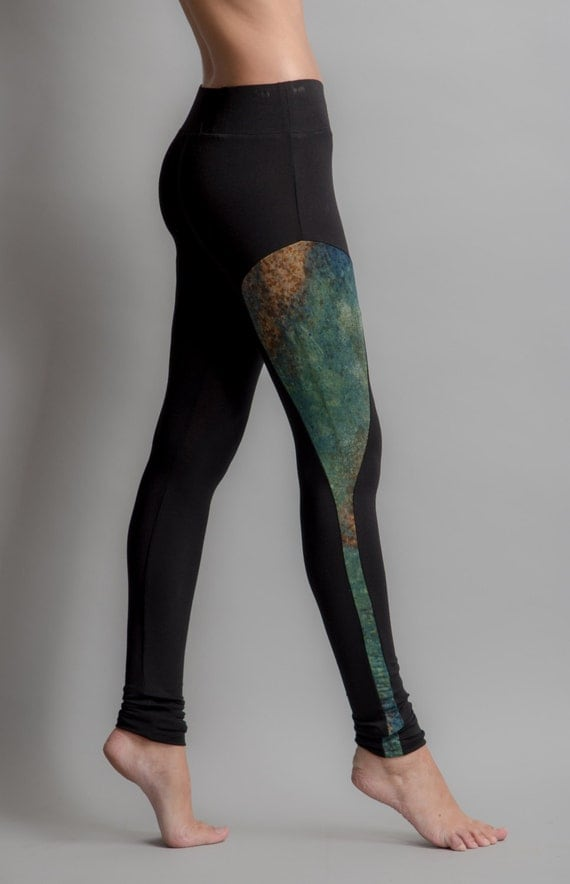 Hand dyed incrustation legging S, M, L