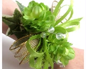 Faux Corsage For Little Girl - Father/Daughter Dance Corsage - Wedding Corsage - Preschool Graduation Corsage - Lime Green Corsage