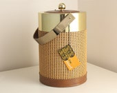 Georges Briard Champagne-Sized Ice Bucket of Woven Jute with Original Tag