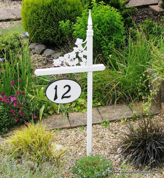 Personalized pvc house number sign holder by myretirementgig - Decorative house number signs ...