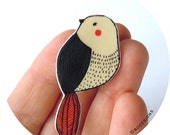 Bird pin - brooch - badge
