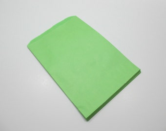 Green Paper Gift Bags, Lime Green Gift Bag, SALE - 100 6x9 Paper Gift Bags, Merchandise Bags, Favor Bags, Shower Favor Bag - Closeout