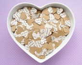 1000 Heart Novel Kraft Confetti Mix - Many Choices - Alice in Wonderland / Jane Austen / Fifty Shades / Harry Potter and more Wedding Decor