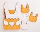 Yellow Magnets, Bunny fridge magnets, Bunny Rabbit, Many color variations, fridge sticker