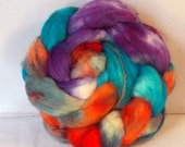 4 oz Handpainted Superwash BFL Spinning Fiber