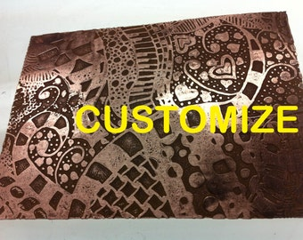 "Custom Design your Own Copper Etched Sheet 3"" x 4"" 24g"