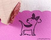 40% OFF SALE surprised dog Rubber stamp