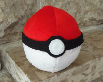 Pokemon Inspired Pokeball Beanbag Plush