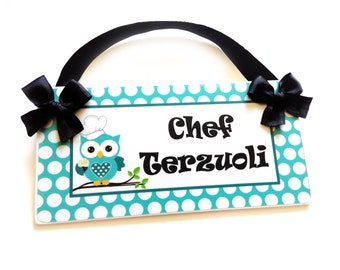 custom teacher baking instructor sign culinary high school classroom door sign - available in all colors - P700