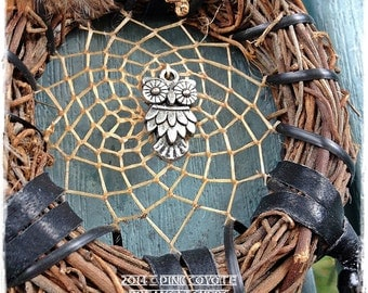 Owl Nature Twig Wreath Dreamcatcher
