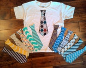 Easter Iron On Tie Applique for Boy Shirts Size 4-6 - Spring Iron on Tie for Boy Shirt - Boy Iron on Tie