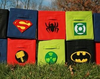 Superhero Storage Bins Individual Bins