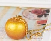 Golden Apple Necklace / Bag / Phone/Key Charm