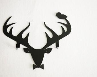 Metal Home Decor Wall Hook Reindeer With Bird