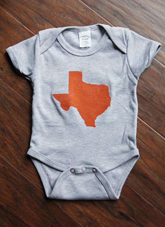 Baby Texas Onesie - Hand Painted