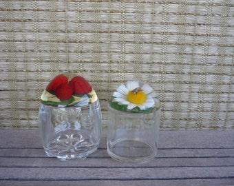 Vintage Honey and Jam Jars, Retro Kitchen