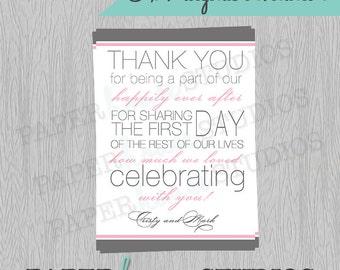 Wedding Thank You 5 X 7 Digital Invitation