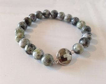 Tree Agate Pyrite Bracelet