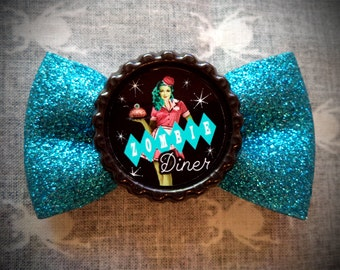 Zombie Diner Hair Bow