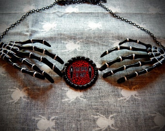 Who's Coffin? Skeleton Necklace