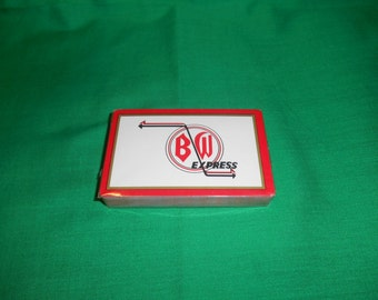 One (1), Sealed Deck of Playing Cards, with Advertizing for B/W Express.