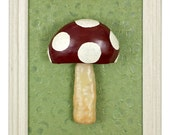 3D Mushroom Wall Sculpture, Perfect for Gardeners & Kitchens